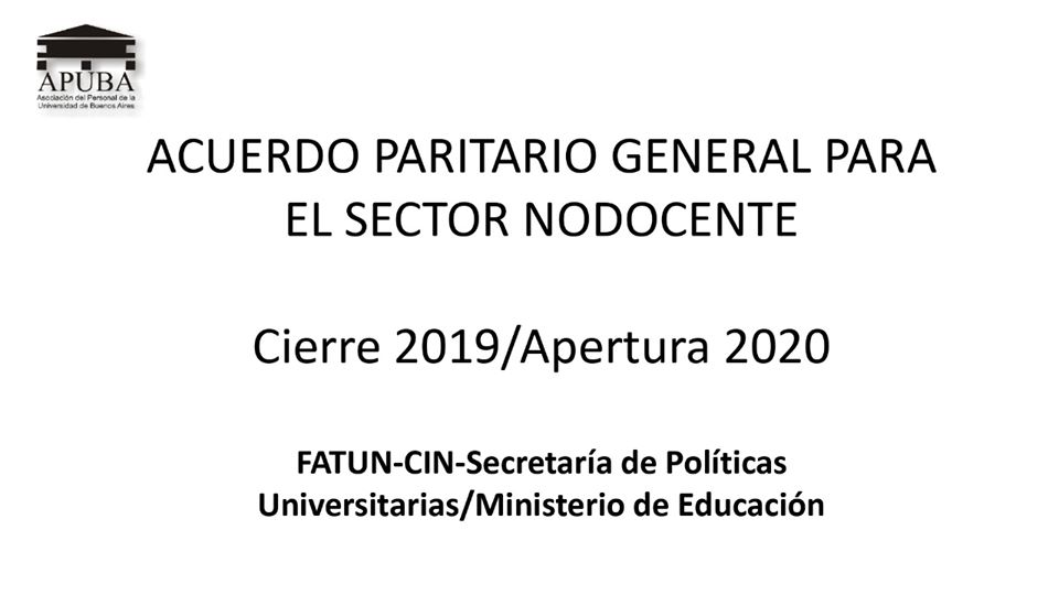 Paritaria General Nodocente
